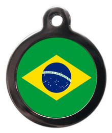 Brazil Flag Dog ID Tag