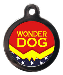 Wonder Dog - Superhero Themed Dog ID Tags
