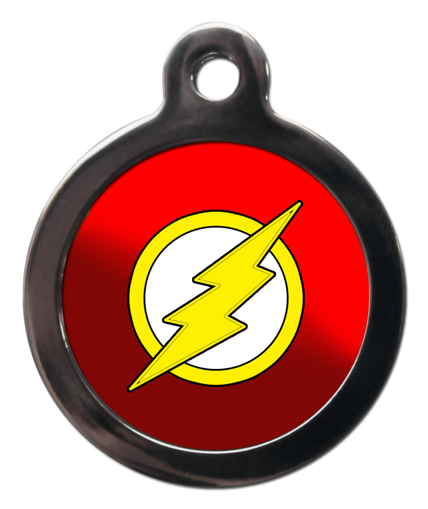 The Flash Superhero Themed Pet Id Tags Ps Pet Tags