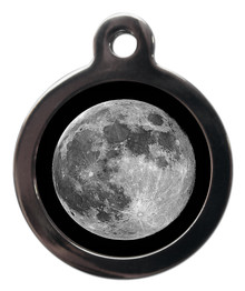the moon engraved pet tags