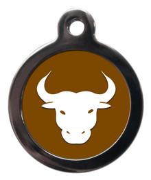 TAURUS STAR SIGN PET ID TAG