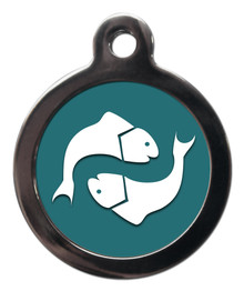Pisces star sign dog tag