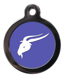 Capricorn star sign dog tag
