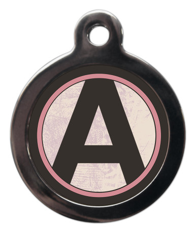 Letter A Pet ID Tags