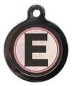 Letter E Pet ID Tags