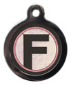 Letter F Pet ID Tags