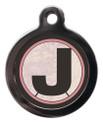 Initial J Pet ID Tags