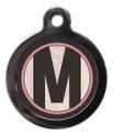 Initial M Pet ID Tags