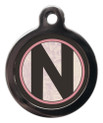 Pet ID Tags with the letter N on it