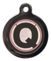 Pet ID Tags with the letter Q on it