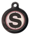 Pet ID Tags with the initial S on it