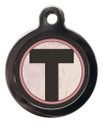 Pet ID Tags with the initial T on it