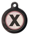 Pet ID Tags with the initial X on it