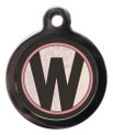 Pet ID Tags with the initial W on it