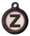 Pet ID Tags with the initial Z on it