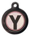 Pet ID Tags with the initial Y on it