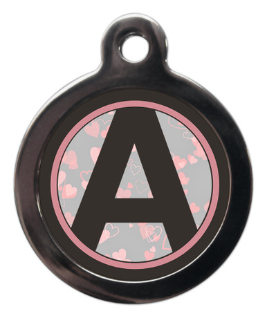 Letter A Dog ID Tag