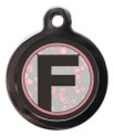 Letter F Dog ID Tag