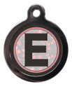 Dog ID Tag with the letter E on it