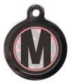 Dog ID Tag with the letter M on it