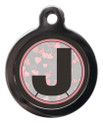 Dog ID Tag with the initial J on it
