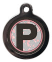 Letter P Dog ID Tag