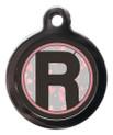 Letter R Dog ID Tag