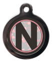 Dog ID Tag with the letter N on it