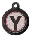 Dog ID Tag with the letter Y on it