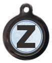 Pet Tags With the letter Z on it