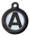 Pet Tags with the letter A on it