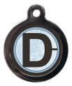 Pet Tags with the letter D on it
