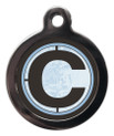 Pet Tags with the letter C on it