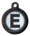 Pet Tags with the initial E on it