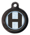 Pet Tags with the initial H on it