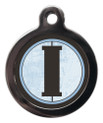 Pet Tags with the initial I on it