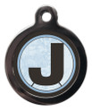 Pet Tags with the initial J on it