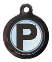 Letter P Pet Tags