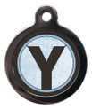 Initial Y Pet Tags