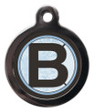 Pet Tags with the initial B on it