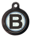 Pet ID Tags with the letter B on it