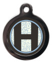 Pet ID Tags with the letter H on it