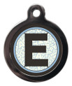 Pet ID Tags with the letter E on it