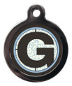 Pet ID Tags with the initial G on it