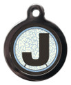 Pet ID Tags with the initial J on it