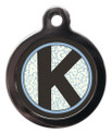 Pet ID Tags with the initial K on it