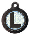 Pet ID Tags with the initial L on it