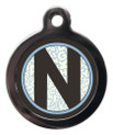 Letter N Pet ID Tags