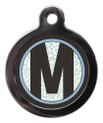 Letter M Pet ID Tags