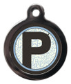 Letter P Pet ID Tags
